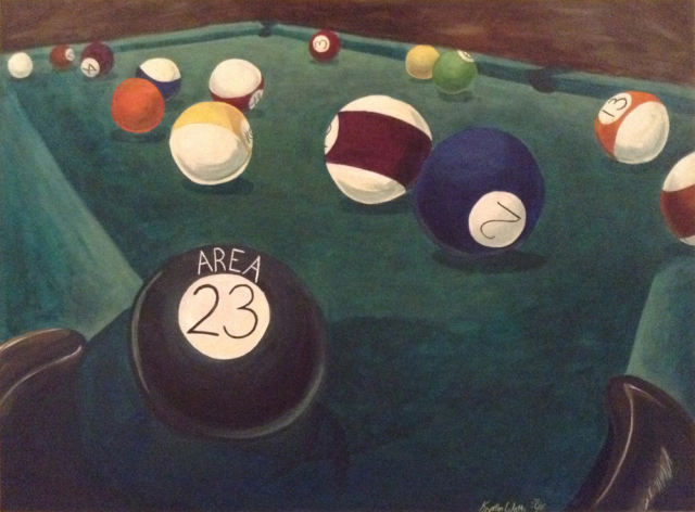 Billiards Mural at Area 23 in Concord NH