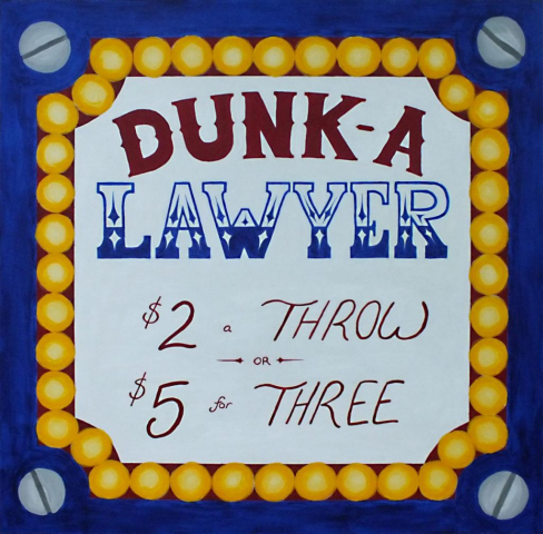 Dunk Tank Sign for Local Lawyer's Charity