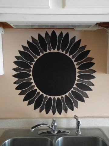Chalkboard Sunflower in Kitchen