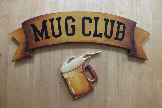 Mug Club Sign for Area 23 in Concord NH